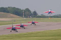 PdF 1 2 3 4 rolling for departure (spbullimore) Tags: e jet alpha dassault de patrouille 20300 epaa france french air force armee lair 2018 cambridge airport e44 1 fuhre e87 2 ftelc e68 3 ftemo e152 4 fuhrt