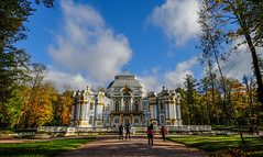 Catherine Palace with autumn garden (phuong.sg@gmail.com) Tags: pushkin stpetersburg alley antique apartment architecture autumn baroque bluesky brick building crumble day europe facade garden historic history landscape morning museum nature old outdoors park path pavilion peace pediment petersburg plaster platband road row russia saint sculpture several silence statue texture tranquility trees urban walk