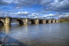 Stürmischer Frühling in Dresden (binax25) Tags: dresden elbflorenz spring fühling sturm clouds wolken hdr elbe river fluss marienbrücke