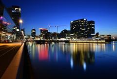 Medienhafen Düsseldorf (Stefan Markus) Tags: port harbor hafen water wasser night nacht sigma1750mmf28exdcoshsm sigma nikond7500 nikon medienhafen düsseldorf nordrheinwestfalen northrhinewestphalia deutschland germany blauestunde bluehour langzeitbelichtung longexposure