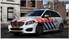 Dutch Police MB 220. (NikonDirk) Tags: drive rotterdam traffic politie nikondirk dutch nederland netherlands holland nikon cop cops hulpverlening spoed striping flitsers controle anpr mercedes benz dordrecht b 220 sj742v nj479t v sx011b xf570g