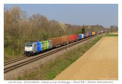 Br 186 295-2 RailPool - Friesenheim (CC72080) Tags: br186 railpool train zug treno locomotive lokomotive locomotiva güterzug marchandise merci friesenheim linéas traxx