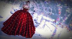 #249 Ball Christmas (ЙёКσ) Tags: virtualavatar secondlifephotographer tiffanydesigns monso idealia juna lepoppycock dress christmas fashion style sl slblogger