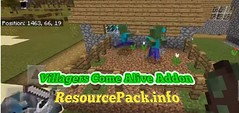 Villagers-Come-Alive-Addon-520x245 (ResourcePack.info) Tags: villagerscomesaliveaddon addon behaviorpack install guide