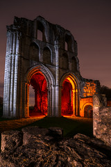Roche Abbey (Waving lights in the dark) Tags: handlit handlight led panel roche rocheabbey red night nightphotography afterdark croaked deceased dead nomore sony sonya7 rip gutted loss lightpainted lightpainting southyorkshire monastery monk ancient medieval religious monument old