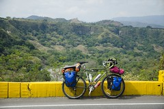 Yonder resting on a climb (speed6ump) Tags: pan american highway tour adventure cycling colombia tolima river valley rio bike bicycle south america