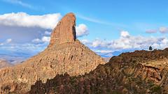 Weavers Needle (Ed-in-AZ) Tags: mountain range rock formation desert blue sky clouds landscape