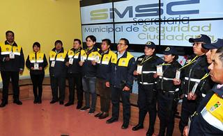 SMSC PRESENTA  UNIFORMES Y CREDENCIALES PARA FUNCIONARIOS DE LA INTENDENCIA Y GUARDIAS MUNICIPALES (6)