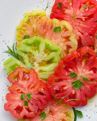 Fresh tomatoes with olive oil. (carmenmedinalopez) Tags: food foodstyling foodphotography foodstylist fooddesing tomato tomate tomatoes tomates olive oil aceite de oliva virgen extra red color