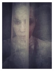 All what left of me... (haidem3) Tags: gothic goth gothgirl emotive girl ghost portrait autoportrait curtain face