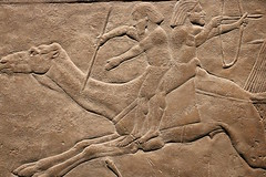 Arabs on camel back (calmeilles) Tags: london england unitedkingdom ashurbanipal britishmuseum assyria ancienthistory archaeology middleeast nineveh