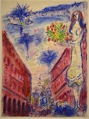 """Gouache préparatoire pour la lithographie """"Avenue de la Victoire"""" (RarOiseau) Tags: aixenprovence paca peinture bouchesdurhône exposition chagall musée"""