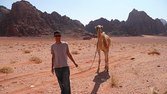 Wadi Rum, (not) Walking the Dog (Eye of Brice Retailleau) Tags: photographer photographe french francais awesome amazing gorgeous beautiful wonderful website travel photography adventure bright colors colours colourful colorful beauty wide angle backpacking traveller voyage composition perspective pure light scenic view around world earth journey life tourism tourisme tour du monde outdoor outdoors landscape paysage paysaje scenery panorama hike hiking randonnée people portrait selfie selfies self autoportrait middle east jordan jordanie wadi rum camel ride l