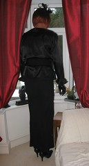 mm (teriteri56) Tags: tv tranny transvestite cd crossdresser tart blouse victorian edwardian puusy bow satin frilly high neck dressing dresssed skirt gloves