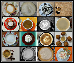2019 Sydney collage: Coffee Tops #1 (dominotic) Tags: 2019 coffeeobsession coffeetops food drink confectionery coffeebeans chocolate foodphotography yᑌᗰᗰy coffeetopcollage coffeecups coffeemugs coffeefoam coffeeandcupsaucer sydney australia