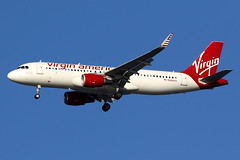 Virgin America | Airbus A320-200 | N284VA | San Francisco International (Dennis HKG) Tags: aircraft airplane airport plane planespotting canon 7d 100400 sanfrancisco ksfo sfo airbus a320 airbusa320 sharklets virginamerica vx vrd usa n284va