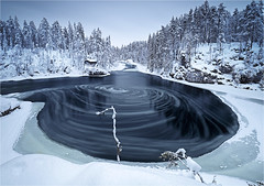 Whirlpool (Sandra OTR) Tags: finnland lappland finland lapland winter snow tykky trees cold landscape sunshine sunset sunrise blue sky vacation father christmas santa claus