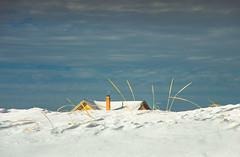 Beach House in Winter (Bud in Wells, Maine) Tags: drakesisland maine wells winter dunegrass dof beachhouse snow