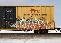 Lunch (quiet-silence) Tags: graffiti graff freight fr8 train railroad railcar art lunch sfr ttx tbox boxcar tbox661262