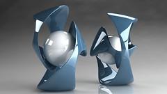 ball_shape_white_blue_glass_63_1280x720 (andini.dini53) Tags: 3d ball glass