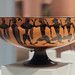 Athenian Black Figure Siana Cup with a foot race