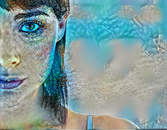 Blue Eyes (Eclectic Jack) Tags: ddg generator dream deep processing processed process post manipulated woman pretty beautiful blue color eyes ear mouth nose closeup portrait people amature art artistic hss