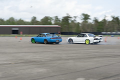 Closing The Gap (Find The Apex) Tags: nolamotorsportspark nodrft drifting drift cars automotive automotivephotography nikon d800 nikond800 tandemdrift tandem tandemdrifting tandembattle nissan 240sx nissan240sx s13 s14