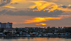 Sunset Boca Ciega Bay (vwalters10) Tags: sunset bay water cloud sky buildings florida