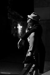 Angélique (2) - Gap - Mars 2019 (Le Rêvellateur) Tags: canon eos 6d eos6d pleinformat fullframe canon2470f4 paca hautesalpes gap people modèle femme woman portrait angélique shooting extérieur outside ville city rue street ombre shadow lumière light nuit night skancheli noiretblanc blackandwhite monochrome