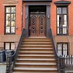 Black doorway, 62 Morton Street (1848), Greenwich Village, New York thumbnail