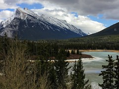 Banff Parkway Spring (Mr. Happy Face - Peace :)) Tags: art2019 banff alberta canada cans2s rockies mountains sky clouds snowcaps