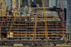 Hudson Yards--2016 (PAJ880) Tags: hudson yards manhattan construction cranes steel nyc new york booms girders beams