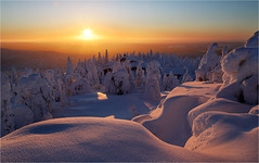 Scenic Winter (Sandra OTR) Tags: finnland lappland finland lapland winter snow tykky trees cold landscape sunshine sunset sunrise blue sky vacation father christmas santa claus