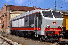 FS E402 002 (maurizio messa) Tags: e402 e402p e402a toscana mau bahn ferrovia yashicafxd treni trains railway railroad prototipo prototype