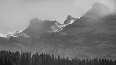 Kickin' up a Storm (alexanderer_) Tags: rockymountains rockies canada alberta banff twojack rundle mountrundle lake mountain landscape drama bw snow wind