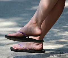 IMG_0973_purple strap flip flops (sdttds) Tags: feet soles toes arches ankles shoes sandlas flipflops footwear dangle shoeplay posed pretty sexy cute purple powerful