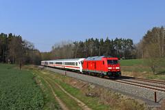 245 022 DB (Zugbild) Tags: bahn rail railroad railway dbag thüringen diesellok train br245 traxx oberndorf intercity