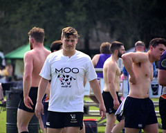 Moo! (Mike McCall) Tags: copyright2019mikemccall photography photo image usa culture southern america thesouth unitedstates northamerica south georgia stpatricksdayrugbytournament stpatrick day rugby tournament game sport sports field pitch football savannah chatham county documentary editorial side daffin park daffinpark parkside
