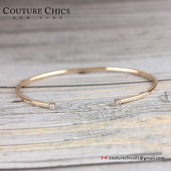 Solid 14k Yellow Gold Natural 0.06 Ct. Diamond Designer Cuff Bangle Bracelet New Jewelry (couturechics.facebook1) Tags: solid 14k yellow gold natural 006 ct diamond designer cuff bangle bracelet new jewelry