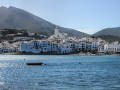 Cadaques, Spain (dckellyphoto) Tags: spain 2015 catalonia cadaques europe water blue town boat blueazul bluestblue