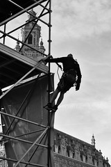 (cyril.crn) Tags: lille flandres palais beffroi nord france europe streetphotography urban street worker people architecture sky blackandwhite blackwhite bw black white