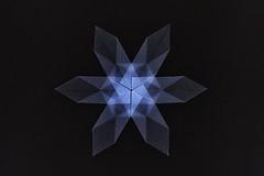 Snowflake (Frances LeVangia) (De Rode Olifant) Tags: origami franceslevangia marjansmeijsters paper paperfolding diagrams bosmagazine198 snowflake origamisnowflake papiroflexia