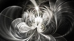 The Light Monster, fractale. (Enzo R.) Tags: fractal fractale white black noir et blanc formes geometry circles cercles graphics apophysis monster