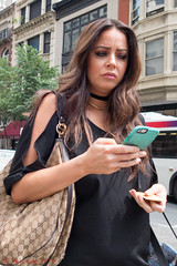 Smartphones Are Sad? (ViewFromTheStreet) Tags: allrightsreserved blick blickcalle blickcallevfts calle copyright2019 dibruno dibrunobros pennsylvania philadelphia photography stphotographia streetphotography viewfromthestreet amazing beautiful beauty candid cell classic eyes female girl longhair mobile necklace phone portrait pretty purse sad sadeyes smartphone street streetportrait vftsviewfromthestreet woman ©blickcallevfts ©copyright2019blickcalle