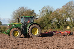John Deere 6215R Tractor with a Vaderstad Rollx Cambridgeshire Ring Roller (Shane Casey CK25) Tags: john deere 6215r tractor vaderstad rollx cambridgeshire ring roller jd green midleton traktor traktori tracteur trekker trator ciągnik sow sowing set setting drill drilling tillage till tilling plant planting crop crops cereal cereals county cork ireland irish farm farmer farming agri agriculture contractor field ground soil dirt earth dust work working horse power horsepower hp pull pulling machine machinery grow growing nikon d7200