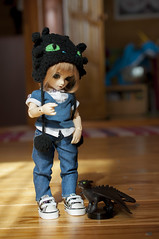 How To Train Your Dragon 12 (Mista-Oro) Tags: toy howtotrainyourdragon dragon dreamworks toothless fairyland ltf littlefee chiwoo bjd doll