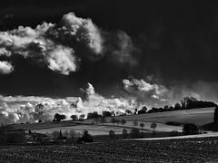 Spring sky tumult (PHOTOGRAPHY Toporowski) Tags: schatten shadow weis wolken bw sw clouds himmel sky spring contrast licht light landscape white eschweiler nrwnordrheinwestfalen deutschland deu