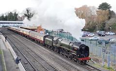 70000-5P55-Wellington-22-1-2019 (D1021) Tags: steam 70000 britannia 5p55 wellingtonstation signal colourlight colourlightsignal wellington wellie telford nikond700 d700 saphostraintours