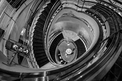 """Vertigo"" (Photography by Sharon Farrell) Tags: rubin rubinmuseum rubinmuseumofart himalayanart manhattanmuseum newyorkmuseum chelsea manhattan abstract architecture abstractphotography abstractarchitecture abstracts interiorarchitecture newyork newyorkcity spinningwheel spiralstaircase spiral spiralabstract spiralstaircases stepsandstairs stairscape stairporn stairs staircases stairway stairwell staircase stairscapes blackandwhite blackwhite blackandwhiteabstract blackwhiteabstract noiretblanc"