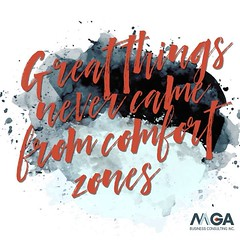 Step out of your comfort zone and watch the magic begin! Tell us a time you did something outside of your comfort zone and the results you saw! 💥⚗️💯 • • • • #mgabusinessconsulting #phoenix #success #comfortzone #entrepreneur #wednesdaywisdom (MGABusinessConsulting) Tags: mga business consulting phoenix team entrepreneurship company culture small leadership development built for success
